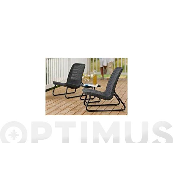 SILLON 2UN + MESITA ALLIBERT RIO SET MAR